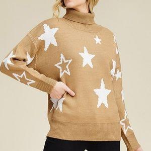 Sweaters - ❣Camel Star Turtleneck Sweater❣